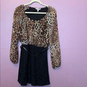 Cheetah lace dress